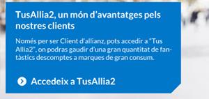 banner 'accedeix a 'tus allia2' de Allianz