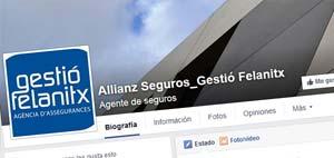 Facebook Gestio Felanitx Allianz Seguros